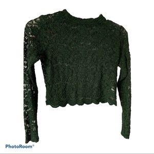 Ambiance Lace long sleeves crop top